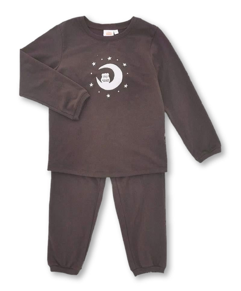 unisex kids pajamas chocolate brown set