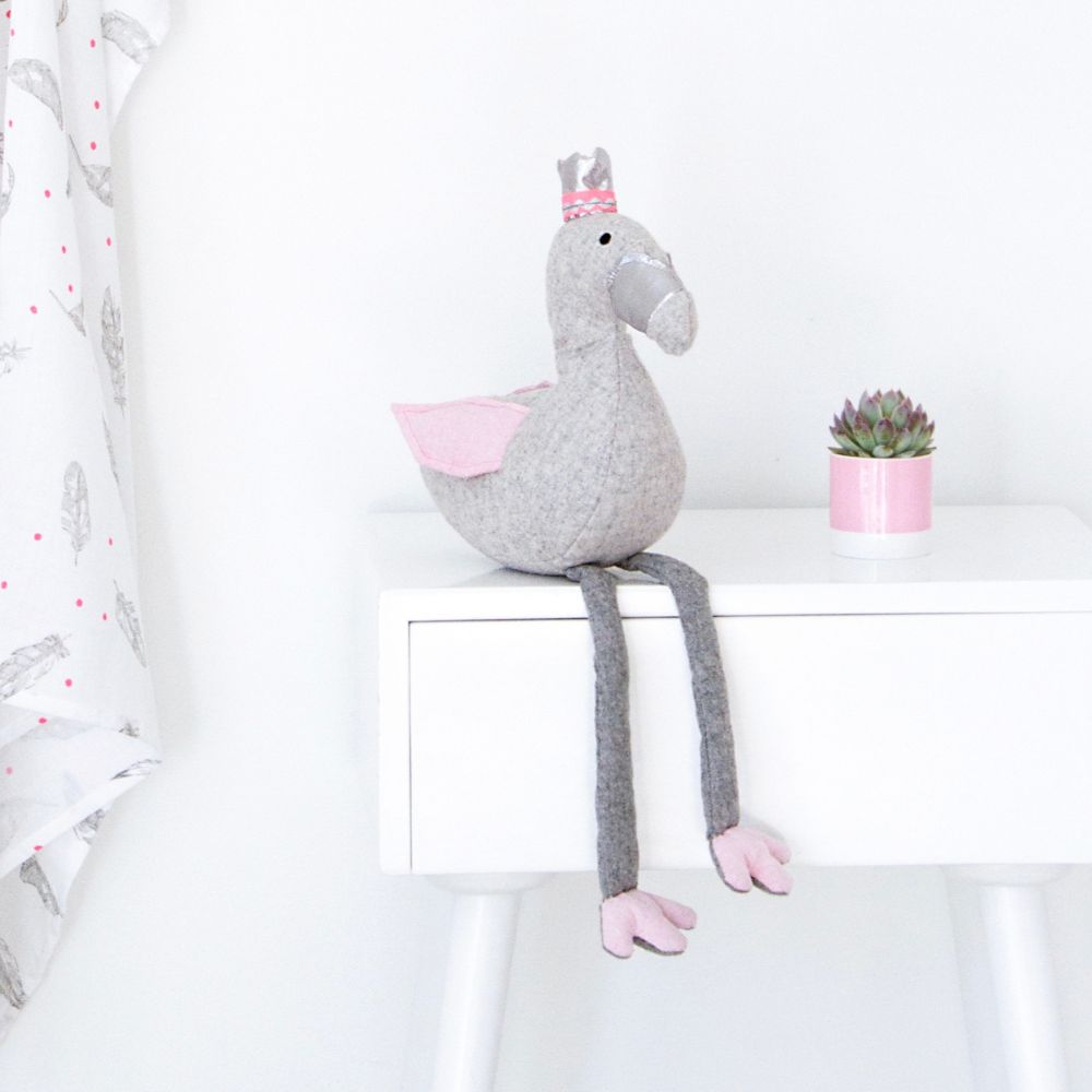 Filomena The Flamingo - Soft Wool Blend Toy | Lilala KIDS