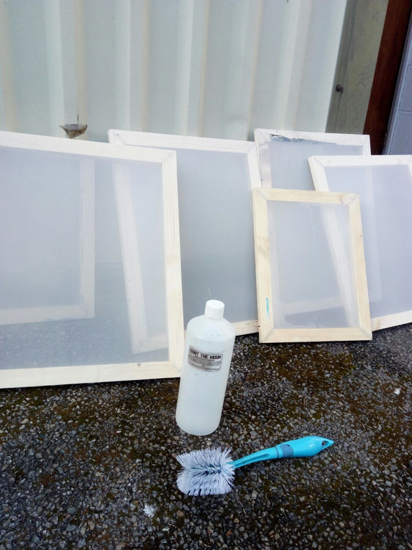 How to clean and reclaim your screen printing frames