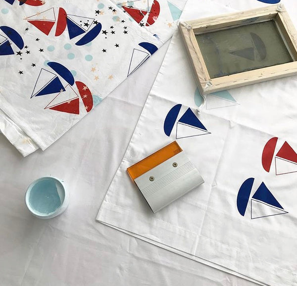 screen printing fabric at home
