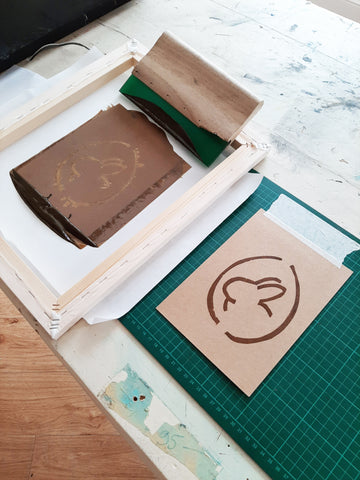 Screen printing cards