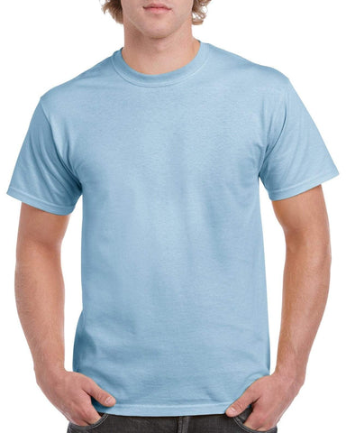 Gildan PASTEL Heavy Cotton T Shirt - Pastel Blue Brand NEW
