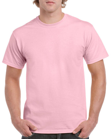 Gildan PASTEL Heavy Cotton T Shirt - Pastel Pink Brand NEW