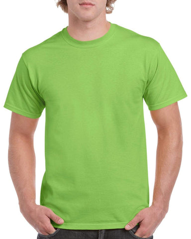 Gildan Heavy Cotton T Shirt - Lime Green Brand NEW