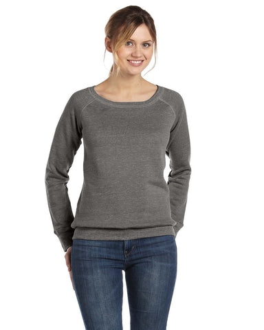 Clearance Price! Bella and Canvas Triblend Wideneck Ladies Sweatshirt Grey