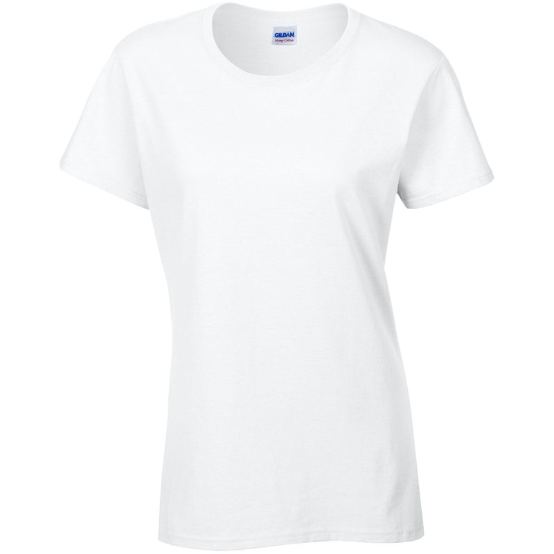 Gildan - Women's Heavy Cotton T Shirts White