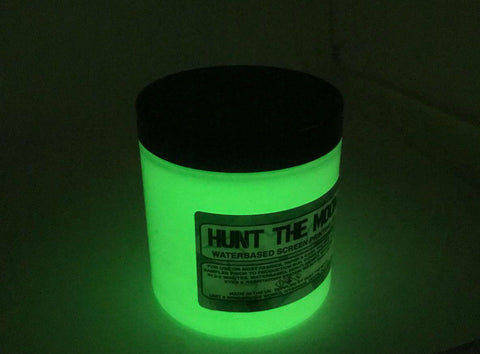 Hunt The Moon Night Glow Fabric, Paper & Card Screen Printing Ink - Glow In The Dark! 240ml