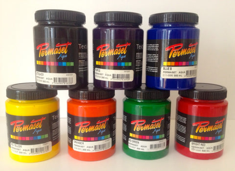 Permaset Aqua - 300ml - Waterbased Textile Ink - huntthemoon- Screen Printing