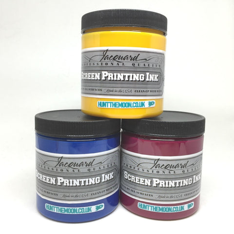 Jacquard Professional Screen Printing Ink - Three 240ml Process Pack