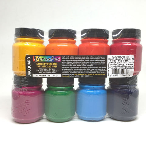 Jacquard Versatex Fabric Paper Screen Printing Ink - Starter Pack - Set 2