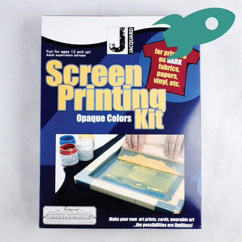 Jacquard - Screen Printing Kit - Opaque Ink For Dark Fabrics - Jacquard- Screen Printing