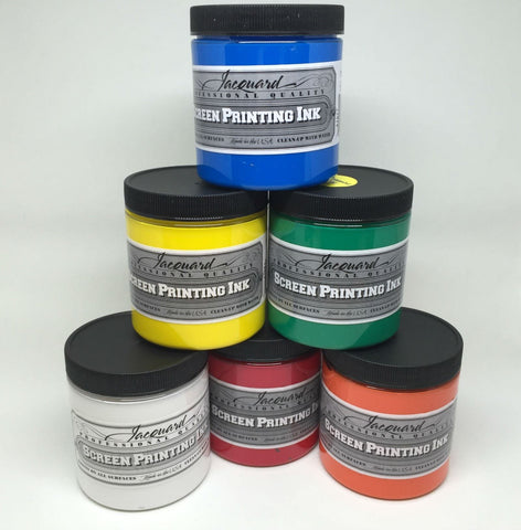 Jacquard Professional Opaque Screen Printing Ink - Water Based Textile Ink
