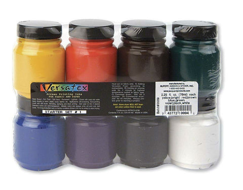Jacquard Versatex Fabric Paper Screen Printing Ink - Starter Pack - Set 1