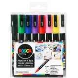 Uni-Ball Posca Paint Markers 8 Pen Starter Pack Set Kit Stone Painting - Choose Pen Size