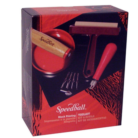 Speedball Block Printing Tool Kit Starter Pack - Speedball- Screen Printing