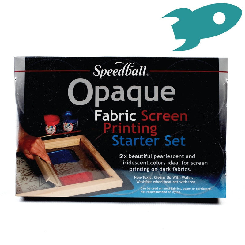 Speedball - Opaque Fabric Screenprinting Starter Set - Set of Six Inks - Hunt The Moon - Screen Printing Supplies Shop