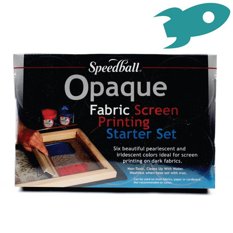 Speedball - Opaque Fabric Screenprinting Starter Set - Set of Six Inks - Speedball- Screen Printing