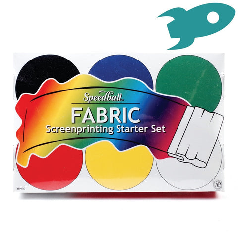 Speedball - Fabric Screenprinting Starter Set - Set of Six Inks - Speedball- Screen Printing