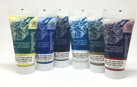 Speedball Water Soluble Block Printing Ink Set
