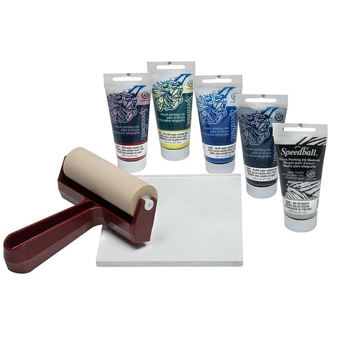 Speedball Monoprinting Gel Block Printing Starter Kit