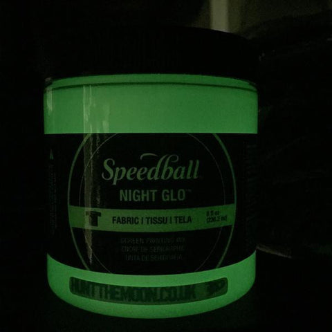 Speedball Night Glo Fabric Textile Paper Screen Printing Ink - Glow In The Dark! 236ml - Hunt The Moon - Screen Printing Supplies Shop