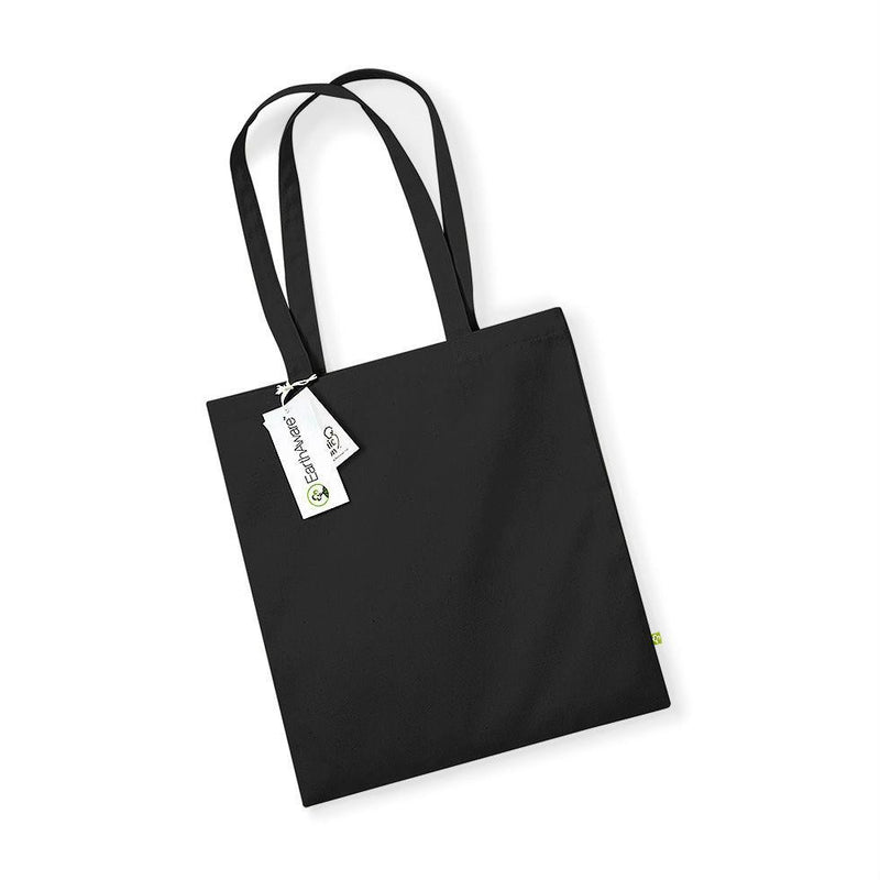 Westford Mill - W801 Earth Aware Tote - Organic Bag For Life - Choose Colour - Hunt The Moon - Screen Printing Supplies Shop