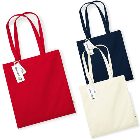 Westford Mill - W801 Earth Aware Tote - Organic Bag For Life - Choose Colour