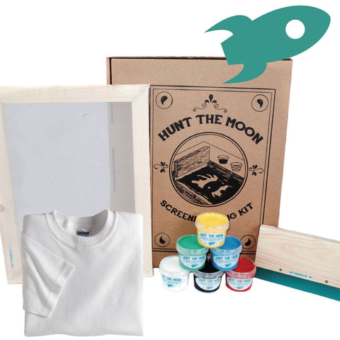 Hunt The Moon Screen Printing Kit A4 43T - Standard or Deluxe With Gildan T-Shirt