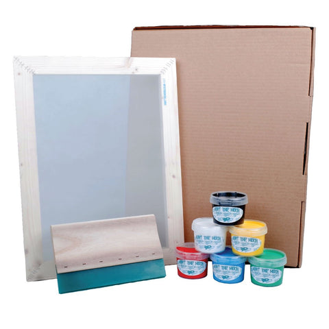 Screen Printing Kit - Hunt The Moon A4 or A3 Choose Mesh Count