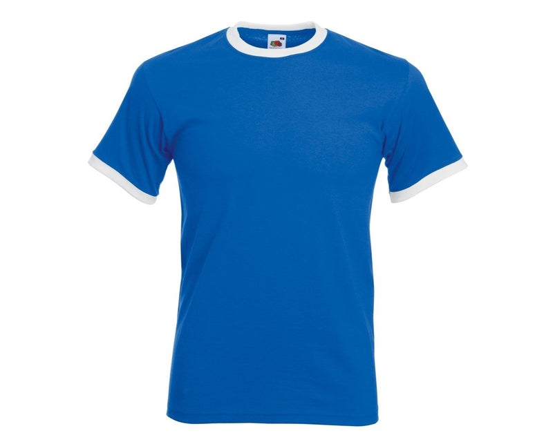 Fruit of the Loom - Ringer Tee Royal Blue - NEW - Hunt The Moon - Screen Printing Supplies Shop