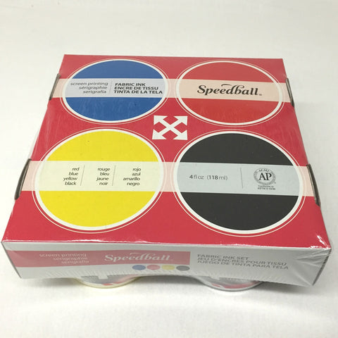 Speedball - Fabric Screen Printing Starter Set - Set of Four Inks - Speedball- Screen Printing