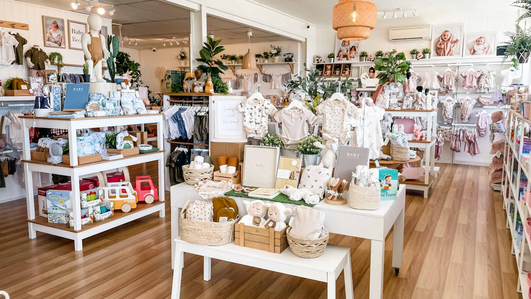 Inside Elle J Baby and Maternity Boutique Townsville