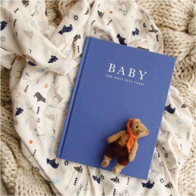 ,Baby Journal - The First Five Years BLUE,Elle J