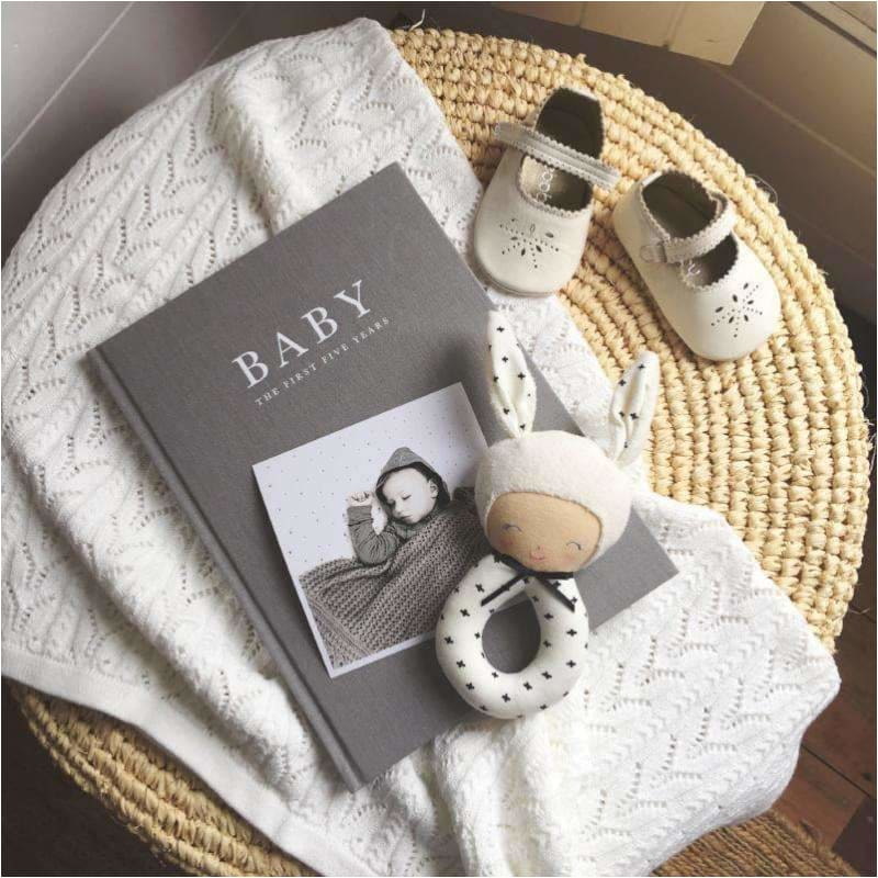 Baby Journal - The First Five Years GREY - Write To Me