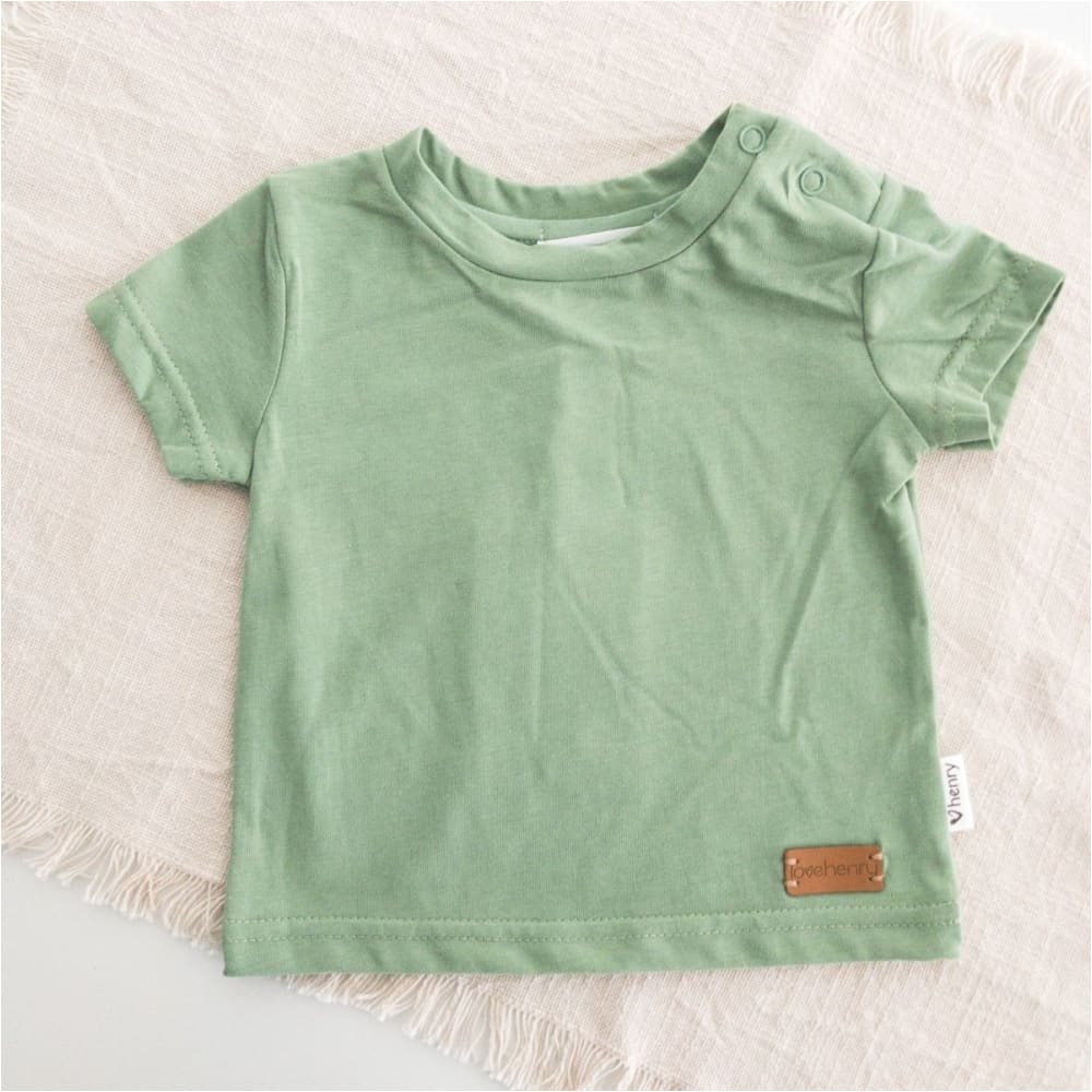 Baby Plain Tee | Green - Love Henry