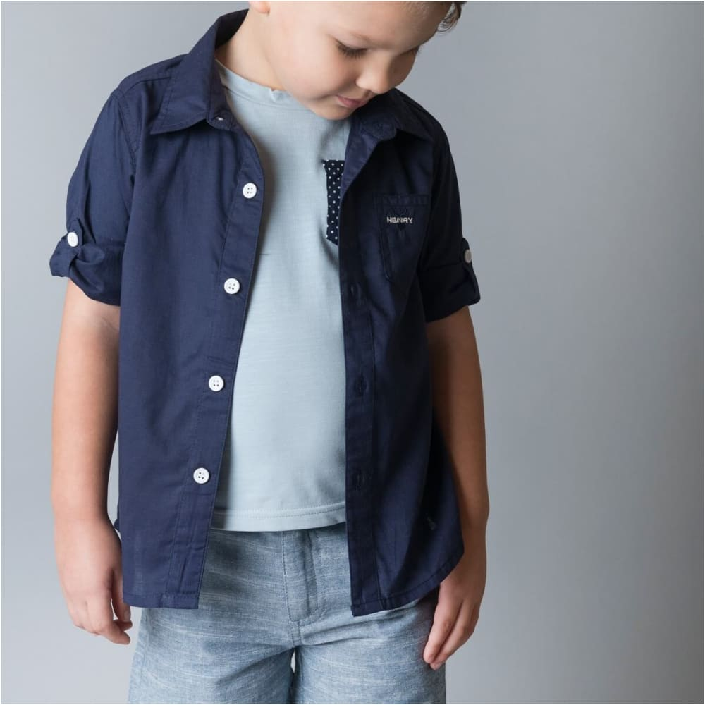 Boys Dress Shirt | Navy - Love Henry