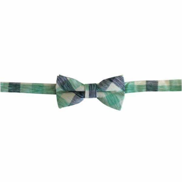 Flynny Bow Tie in Spearmint + Navy Check - Flynny + Mitch