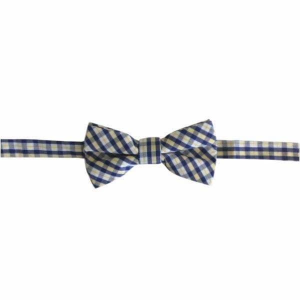 Flynny + Mitch,Flynny Bow Tie in Yellow and Navy Check,Elle J