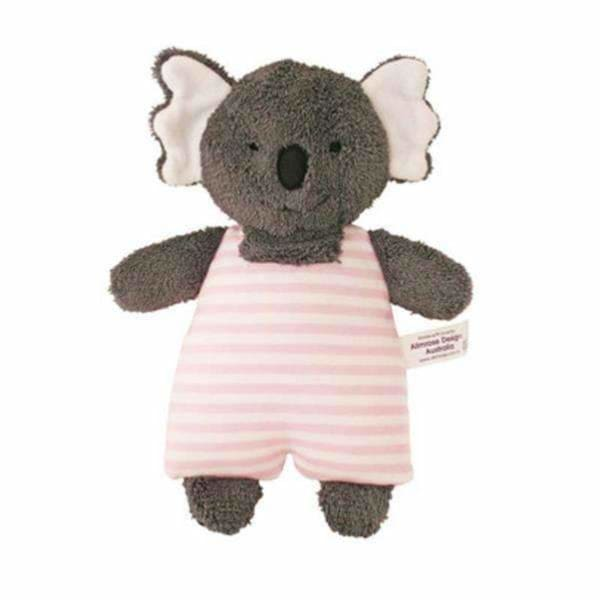 Alimrose Designs,Koala Toy Rattle in Pink Stripe,Elle J
