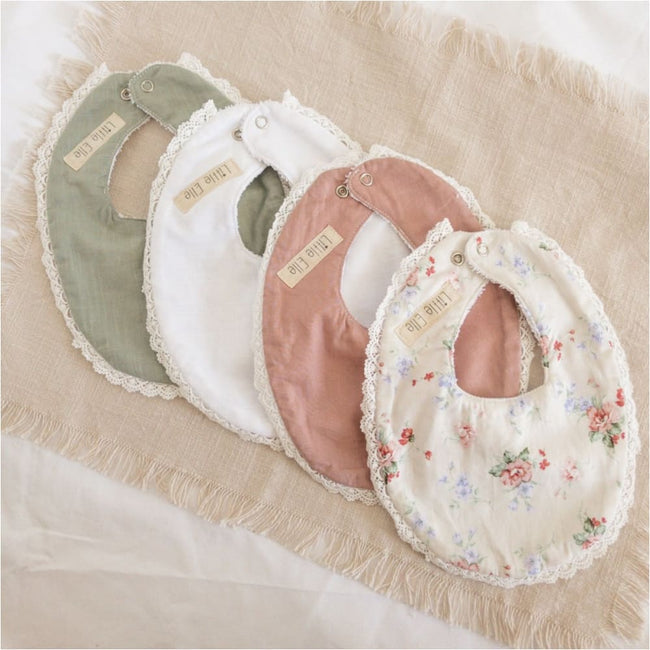 Lace Newborn Bib - Little Elle