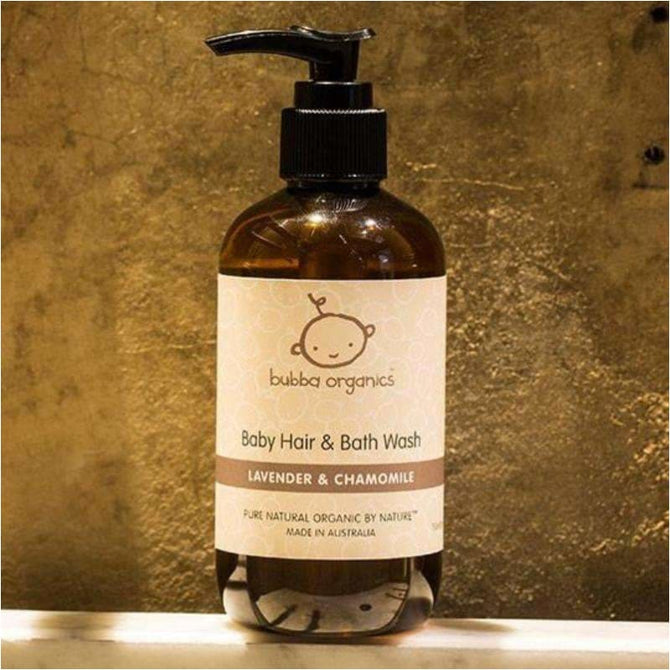 ,Lavender & Chamomile Baby Hair & Bath Wash 250ml,Elle J