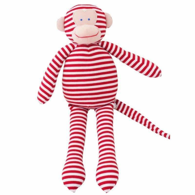 Musical Monkey Red Stripe - Alimrose Designs