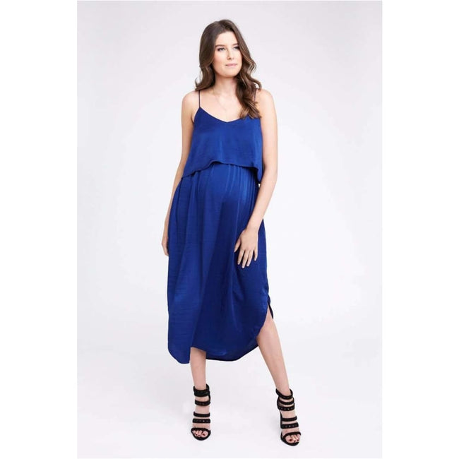 ,Nursing Slip Dress Royal,Elle J