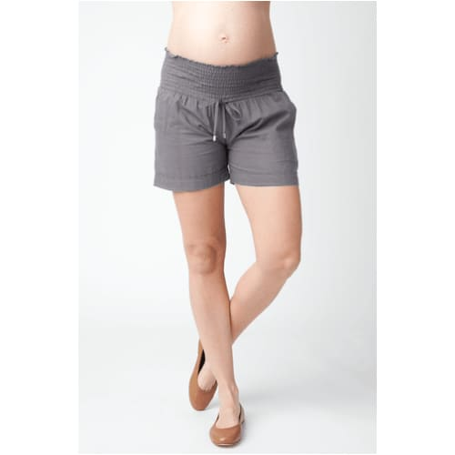 Ripe Maternity,Philly Cotton Shorts in Sulphur,Elle J