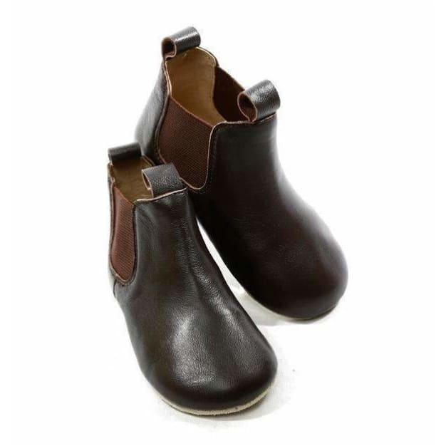 Skeanie,Pre-Walker Riding Boots Chocolate,Elle J