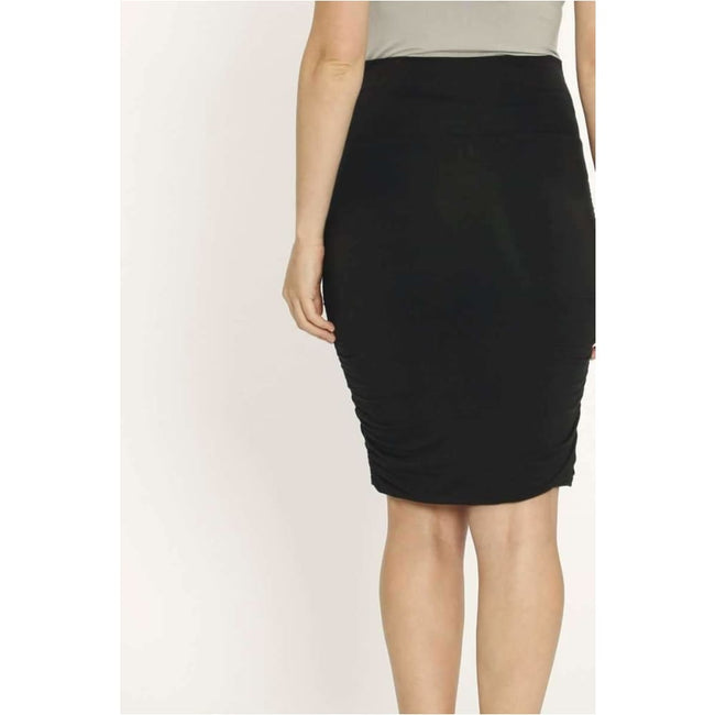 ,Rouched Bamboo Maternity Skirt,Elle J