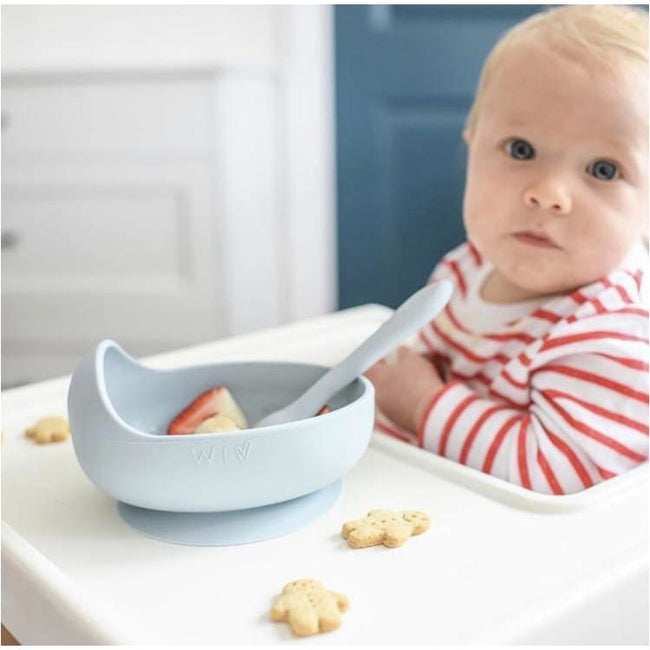 Wild Indiana,Silicone Baby Bowl and Spoon Set,Elle J