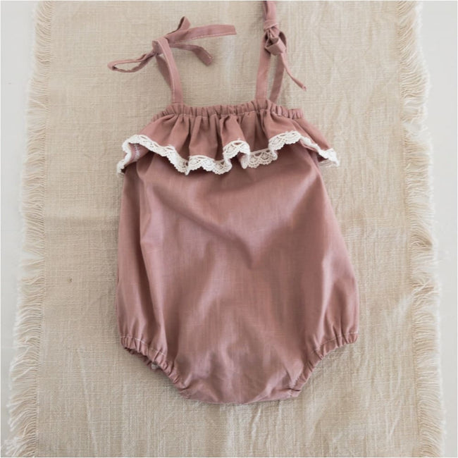 Tilly Playsuit | Dusty Pink - Little Elle
