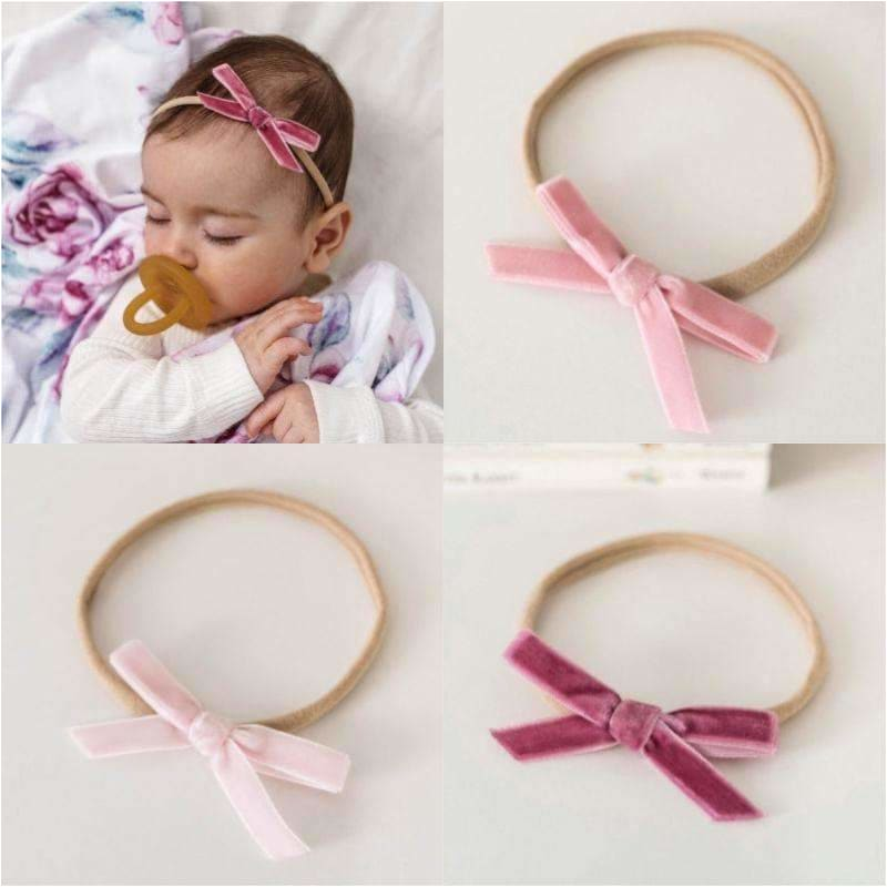 Velvet Bow Headbands - Snuggle Hunny Kids