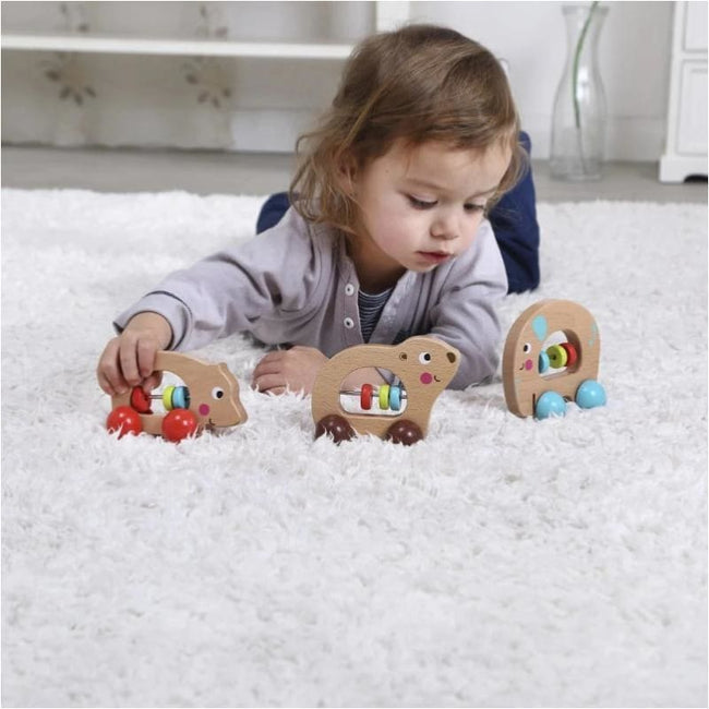 Eleganter,Wooden Animal Rollers | BEAR, HIPPO, ELEPHANT,Elle J